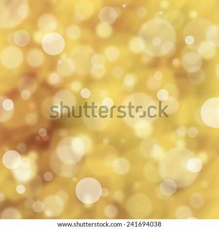 abstract gold background white bokeh lights, round shaped geometric circle background, sparkling fantasy dream background, gold brown background with blurred falling snow or rain