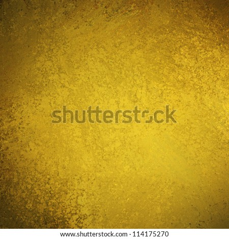 abstract gold background with elegant vintage grunge background texture of old brown dark faded edges and center spotlight for elegant Christmas background or web template backdrop, yellow background