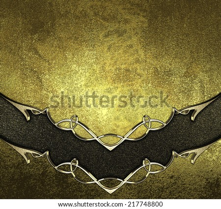 abstract gold background with gold cutout and gold trim. Design template. Design site