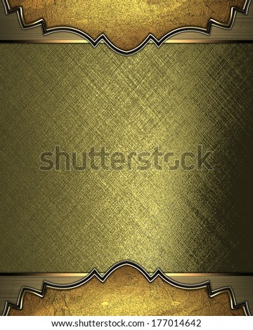 Abstract gold background with gold edged with gold trim. Design template