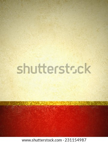 abstract gold background with red footer and gold ribbon trim border, beautiful template background layout, luxury elegant gold paper with vintage grunge background texture design