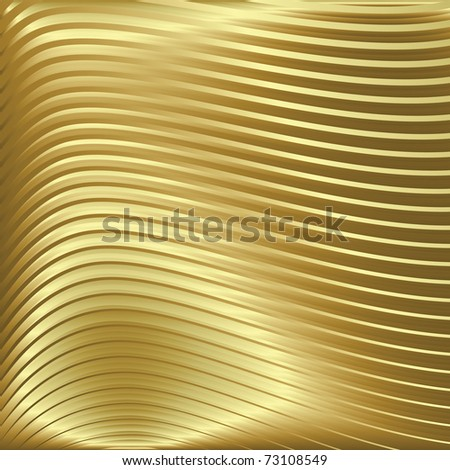 abstract gold background with waves on golden texture - stock photo