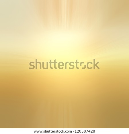 abstract gold background with white center sun burst or lens flare spotlight design of yellow gradient background with texture, abstract background of blurred sun rise illustration heaven concept