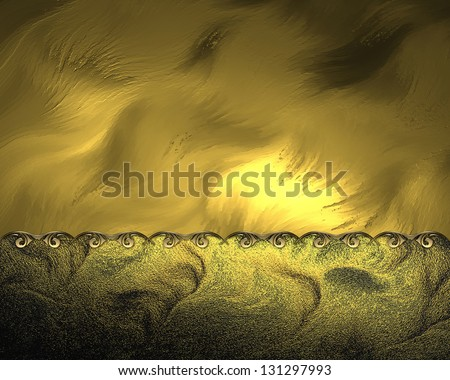 Abstract gold background with yellow background and gold trim