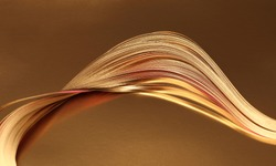 Abstract Gold (bronze) wave paper background.