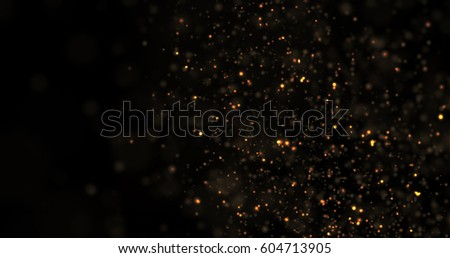 Abstract Gold Glitter Explosion on Black Background - Shutterstock ID 604713905