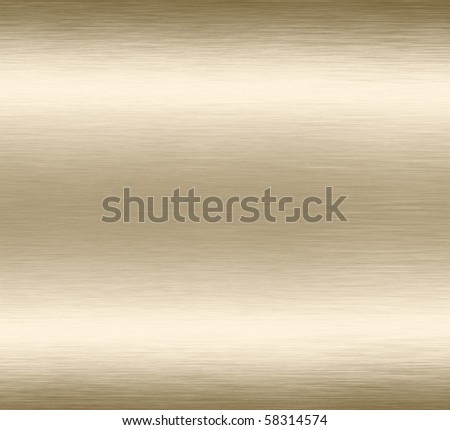 Abstract gold grunge scratched brushed metal background texture.