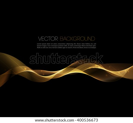 Abstract gold luxury wave layout background. illustration.