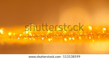 abstract gold twinkled  christmas background
