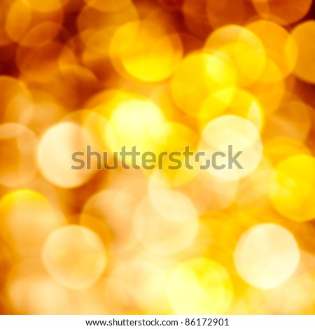 Abstract golden blurred lights christmas background
