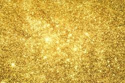Abstract Golden Light Bokeh Background