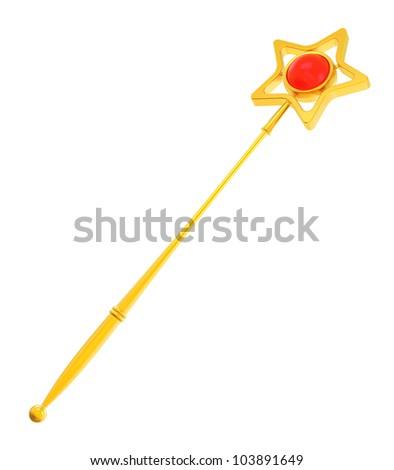Abstract golden magic wand