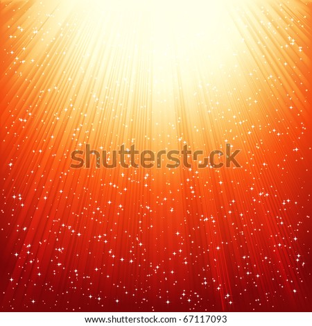 Abstract golden shiny background. - stock photo