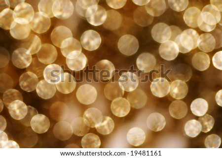 abstract golden spots glittering background