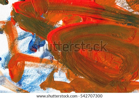 Abstract gouache painting background  #542707300