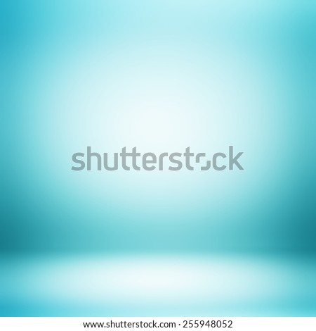 Abstract gradient blue room - can be used as background for montage & display your products