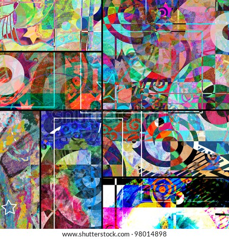 Collage Abstract Artists Abstract Graffiti Collage