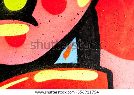 Abstract graffiti on the wall - street art