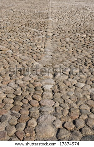 abstract granite cobblestone road background