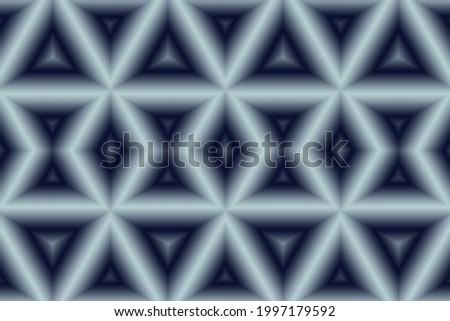 Abstract graphic icy white and gray tubular geometric grid 3d illustration  Foto stock ©