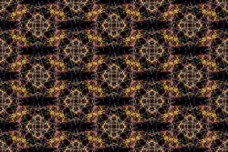 Abstract graphic pattern. Seamless tile background. Silk symmetry seamless pattern series.