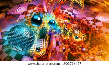 abstract graphic pattern with blue balls Stock fotó ©