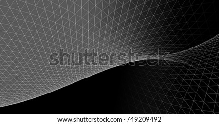 abstract graphics, 3d illustration #749209492