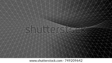abstract graphics, 3d illustration #749209642