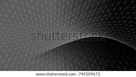 abstract graphics, 3d illustration #749209672