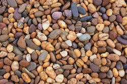 Abstract gravel texture background, Decorative floor pattern of gravel stones