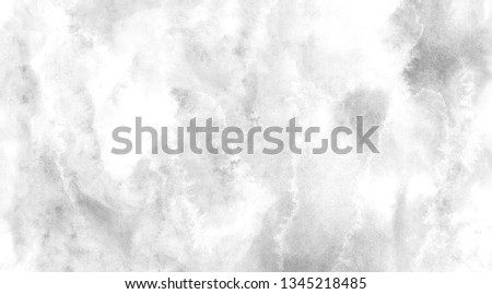 Abstract gray aquarelle painted paper textured canvas element for design, vintage card, retro template. Grey shades gradient watercolor background. Black and white ink effect water color illustration