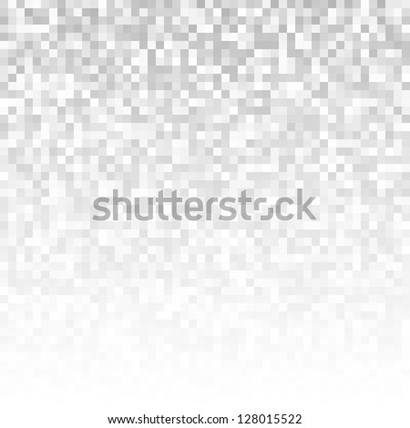 Abstract gray pixelated background, raster illustration