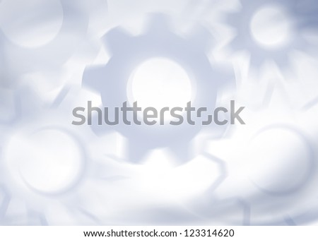 Abstract gray technical background with gears