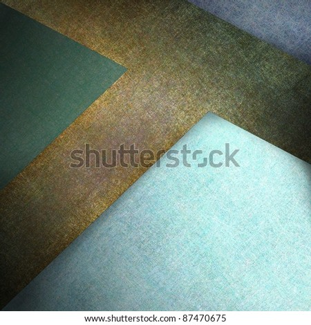 abstract green and blue background with brown leather cross illustration, has vintage grunge texture, highlights, and copy space for brochure, bulletin, ad, sign, label, or cover