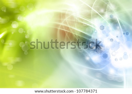 Abstract green and blue tone background