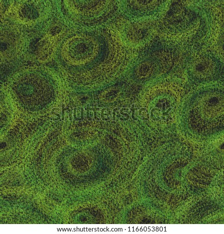abstract green background made with  pencils, seamless pattern #1166053801