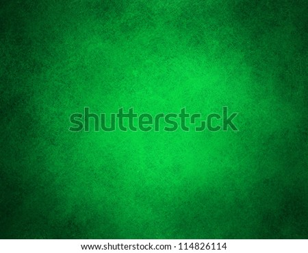 abstract green background or Christmas background with bright center spotlight and black vignette border frame with vintage grunge background texture green paper layout design colorful graphic art