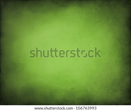 abstract green background paper old black vignette burnt edges on border or frame of wallpaper with vintage grunge background texture gradient with center light for adding text to brochure ad or web