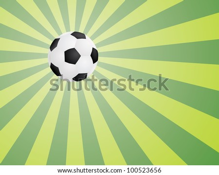 abstract green background with soccer ball illustration