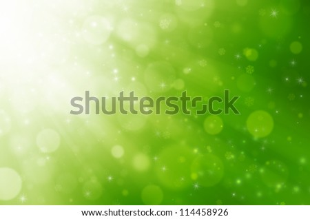 Abstract green christmas background.