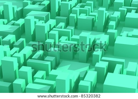 Abstract green city