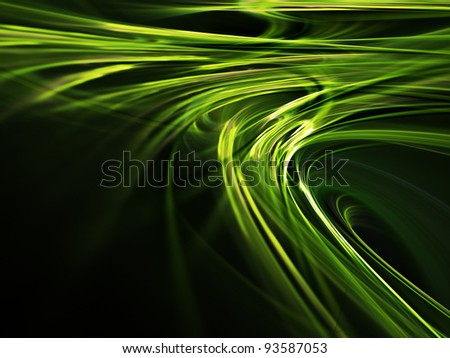 Abstract green design element on black background