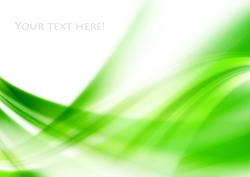 abstract green line