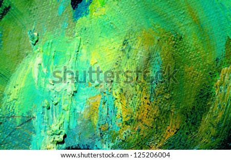abstract green painting by oil on a canvas,  illustration,  background