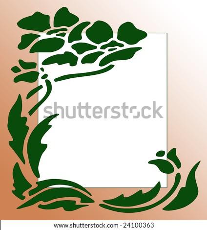 flower frame clipart. Silhouette Flower Clip Art