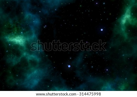 abstract green space background