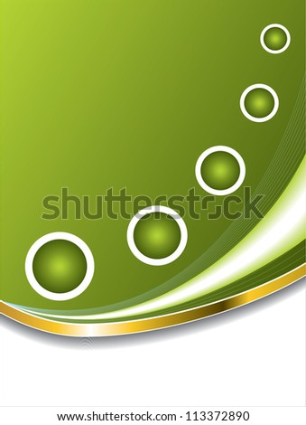 Abstract green with white rings