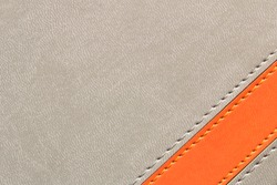 Abstract grey background with orange stripe. Conceptual background for the design