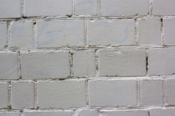 Abstract grey white color brick wall texture for background. Textured Background Illustration. Abstract weathered texture stained old stucco light gray and aged paint white brick wall background.