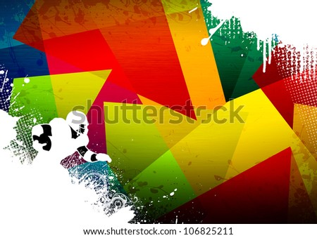 Abstract grunge american football background with space